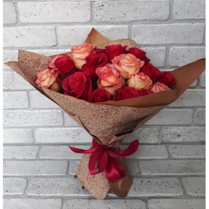 25 роз эквадор микс