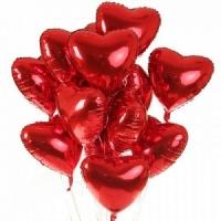 Сердце фольгированное с гелием 1шт