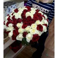 101 роза эквадор 40-60см